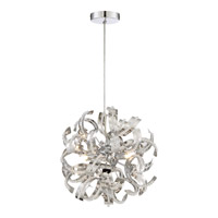 Ribbons 3 Light 12 inch Crystal Chrome Mini Pendant Ceiling Light