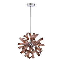 Ribbons 3 Light 12 inch Satin Copper Mini Pendant Ceiling Light
