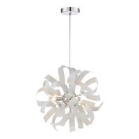 Ribbons 3 Light 12 inch White Lustre Mini Pendant Ceiling Light