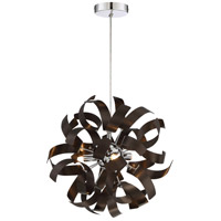 Ribbons 3 Light 12 inch Western Bronze Mini Pendant Ceiling Light