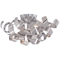 Ribbons 4 Light 17 inch Polished Chrome Flush Mount Ceiling Light