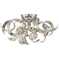 Ribbons 4 Light 19 inch Crystal Chrome Flush Mount Ceiling Light