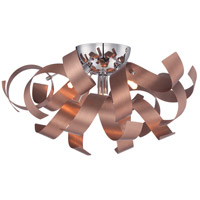 Quoizel Ribbons 4 Light Flush Mount in Satin Copper RBN1616SG