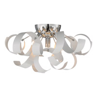 Quoizel Ribbons 4 Light Flush Mount in White Lustre RBN1616W