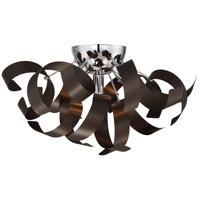Ribbons 4 Light 17 inch Western Bronze Flush Mount Ceiling Light