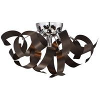 Quoizel RBN1616WT Ribbons 4 Light 17 inch Western Bronze Flush Mount Ceiling Light