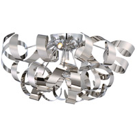 Ribbons 5 Light 22 inch Polished Chrome Flush Mount Ceiling Light