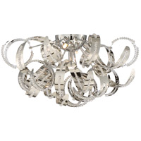 Ribbons 5 Light 22 inch Crystal Chrome Flush Mount Ceiling Light