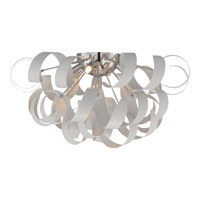 Ribbons 5 Light 22 inch White Lustre Flush Mount Ceiling Light