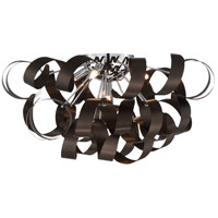 Quoizel Ribbons 5 Light Flush Mount in Western Bronze RBN1622WT