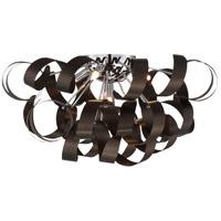 Quoizel RBN1622WT Ribbons 5 Light 22 inch Western Bronze Flush Mount Ceiling Light