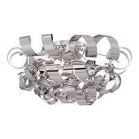 Ribbons 6 Light 28 inch Polished Chrome Flush Mount Ceiling Light
