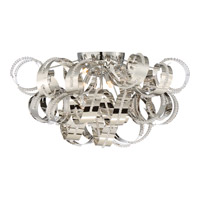 Ribbons 6 Light 28 inch Crystal Chrome Flush Mount Ceiling Light
