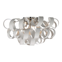 Ribbons 6 Light 28 inch White Lustre Flush Mount Ceiling Light