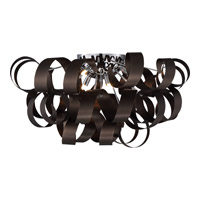 Quoizel Ribbons 6 Light Flush Mount in Western Bronze RBN1628WT