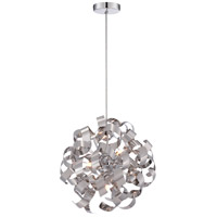 Ribbons 5 Light 17 inch Polished Chrome Pendant Ceiling Light