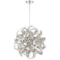 Ribbons 5 Light 17 inch Crystal Chrome Pendant Ceiling Light