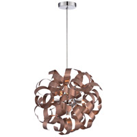 Ribbons 5 Light 17 inch Satin Copper Pendant Ceiling Light