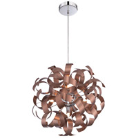 Quoizel Ribbons 5 Light Pendant in Satin Copper RBN2817SG