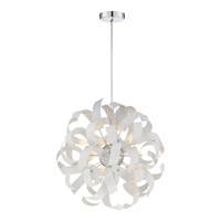 Ribbons 5 Light 17 inch White Lustre Pendant Ceiling Light