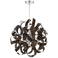 Ribbons 5 Light 17 inch Western Bronze Pendant Ceiling Light