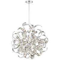 Ribbons 12 Light 23 inch Crystal Chrome Foyer Piece Ceiling Light