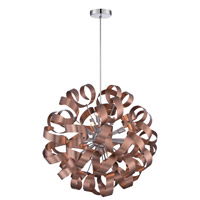 Ribbons 12 Light 23 inch Satin Copper Pendant Ceiling Light