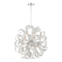 Ribbons 12 Light 23 inch White Lustre Foyer Piece Ceiling Light