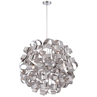 Quoizel RBN2831C Ribbons 12 Light 31 inch Polished Chrome Foyer Pendant Ceiling Light
