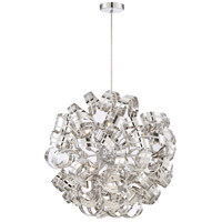 Ribbons 12 Light 31 inch Crystal Chrome Foyer Piece Ceiling Light