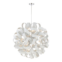 Quoizel Ribbons 12 Light Foyer Piece in White Lustre RBN2831W