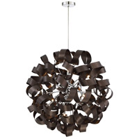 Quoizel RBN2831WT Ribbons 12 Light 31 inch Western Bronze Foyer Piece Ceiling Light