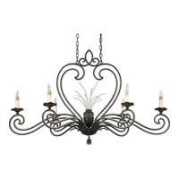 Quoizel Lighting Brittany 6 Light Island Light in Serengeti Black And Mayan Gold Leaf RBT644SM photo thumbnail