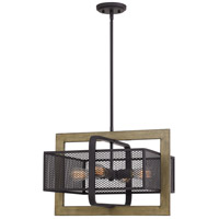 Residence 4 Light 20 inch Western Bronze Pendant Ceiling Light
