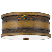 Quoizel RDE1613AWN Roadhouse 3 Light 13 inch Aged Walnut Flush Mount Ceiling Light