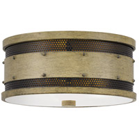 Quoizel RDE1613NTW Roadhouse 3 Light 13 inch Natural Walnut Flush Mount Ceiling Light