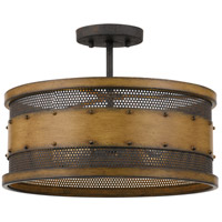 Quoizel RDE1716AWN Roadhouse 4 Light 16 inch Aged Walnut Semi-Flush Mount Ceiling Light