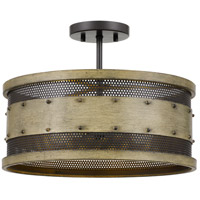 Quoizel RDE1716NTW Roadhouse 4 Light 16 inch Natural Walnut Semi-Flush Mount Ceiling Light