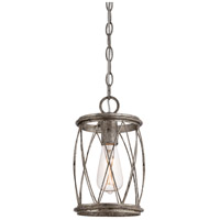 Quoizel Lighting Dury 1 Light Mini Pendant in Century Silver Leaf RDY1506CS