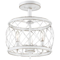 Quoizel RDY1712AWH Dury 3 Light 12 inch Antique White Semi-Flushmount Ceiling Light, Small