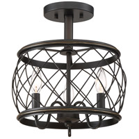 Quoizel RDY1712PN Dury 3 Light 13 inch Palladian Bronze Semi-Flush Mount Ceiling Light