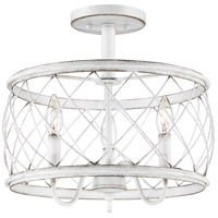 Quoizel RDY1714AWH Dury 3 Light 14 inch Antique White Semi-Flushmount Ceiling Light, Medium