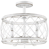 Quoizel RDY1714AWH Dury 3 Light 14 inch Antique White Semi-Flushmount Ceiling Light, Medium alternative photo thumbnail