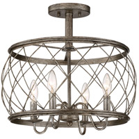 Quoizel RDY1717CS Dury 4 Light 18 inch Century Silver Leaf Semi-Flush Mount Ceiling Light