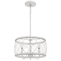 Quoizel RDY2815AWH Dury 3 Light 15 inch Antique White Pendant Ceiling Light