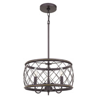Quoizel RDY2815PN Dury 3 Light 15 inch Palladian Bronze Pendant Ceiling Light