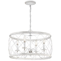 Quoizel RDY2821AWH Dury 4 Light 21 inch Antique White Pendant Ceiling Light