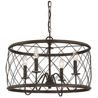 Quoizel Dury 4 Light Pendant in Palladian Bronze RDY2821PN