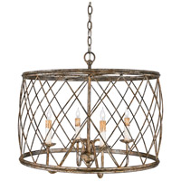 Quoizel Lighting Dury 4 Light Pendant in Century Silver Leaf RDY2823CS