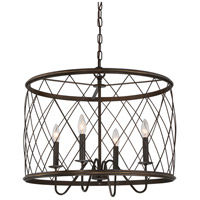 Quoizel Dury 4 Light Pendant in Palladian Bronze RDY2823PN